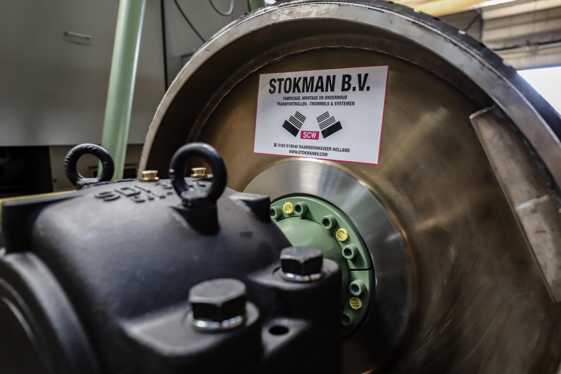 Transportband trommel voor bulkhandling van Stokman